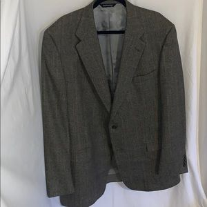 Vintage Burberry Grey/Brown Blazer SZ 48